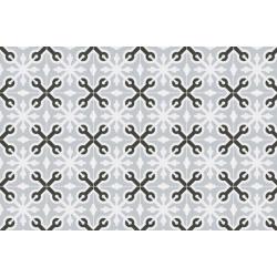 Carrelage imitation ciment croix grise et noire 20x20 cm LLAGOSTERA - 1m² Vives Azulejos y Gres