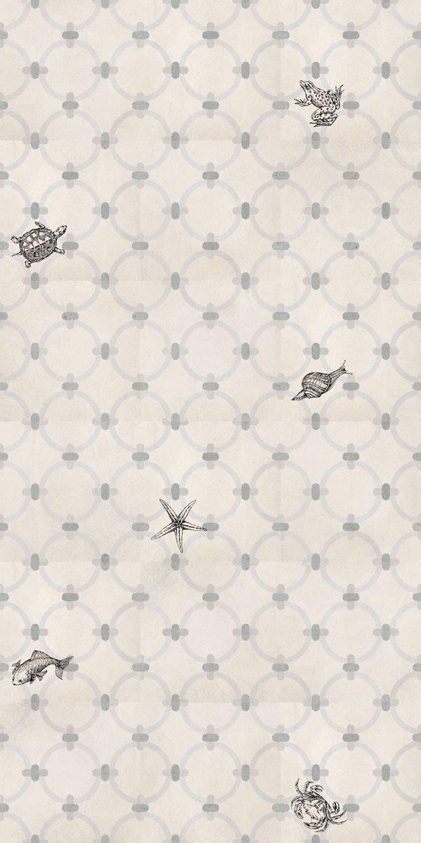 Carrelage gris ciment petits animaux 20x20 cm MACAYA - 1m² - zoom