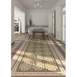 Carrelage imitation ciment rosace beige rose 20x20 cm 1900 ORDAL - 1m² Vives Azulejos y Gres
