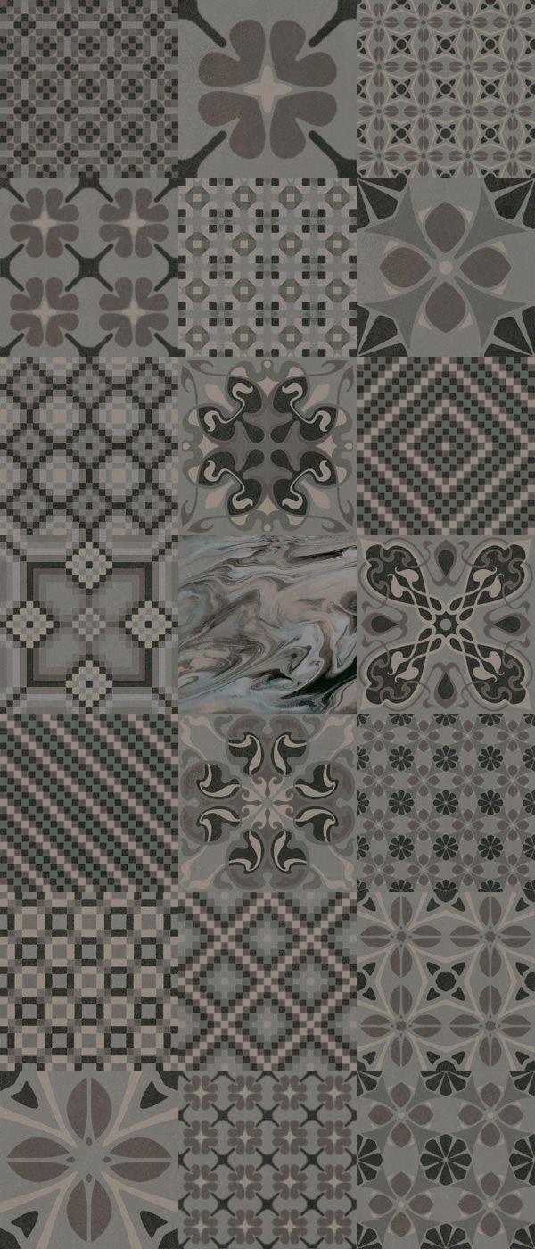 Carrelage imitation ciment 20x20 cm TASSEL Grafito - 1m² - zoom