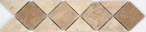 Frise pierre 512 Travertin Beige - Travertin Noce 28.5x7 cm - unité - zoom