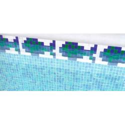 Frise piscine poisson Peces 31x15.2 cm 2002554 - unité Onix