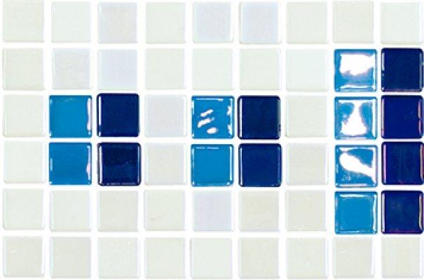 Frise piscine bleu 23.4x15.2 cm 2003389 Cenefa 18 - unité - zoom