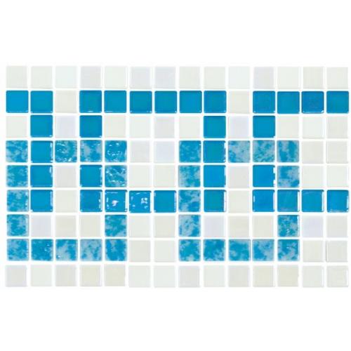 Frise piscine bleu turquoise 36.1x23.4 cm 2003392 Cenefa 21 - unité Onix