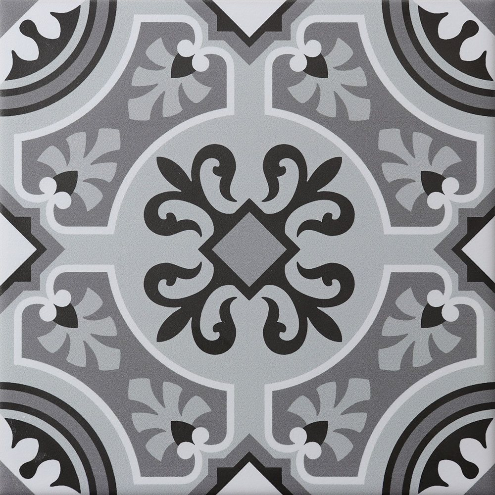 Carreau imitation ciment personnalisable 20x20 cm CUSTOM ARABESQUE R9 - 0.96m² - zoom