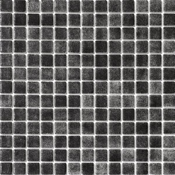 Mosaique piscine nuancée noir 3001 31.6x31.6 cm - 2 m² - zoom
