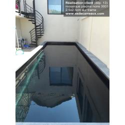 Mosaique piscine nuancée noir 3001 31.6x31.6 cm - 2 m² AlttoGlass