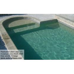 Mosaique piscine Nieve beige ocre orangé 3008 31.6x31.6 cm - 2 m² AlttoGlass