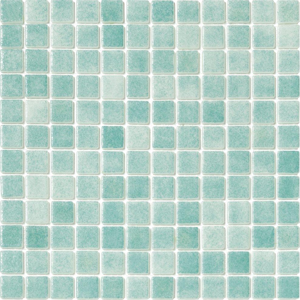Mosaique piscine Nieve vert caraibe 3057 31.6x31.6 cm - 2 m² - zoom