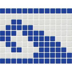 Frise piscine vague bleue 33.3x25 cm 7001 Olas - unité AlttoGlass
