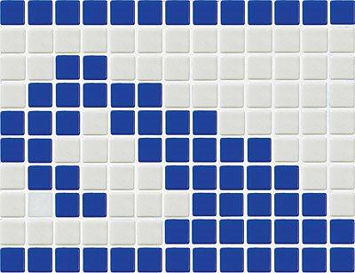 Frise piscine vague bleue 33.3x25 cm 7001 Olas - unité - zoom