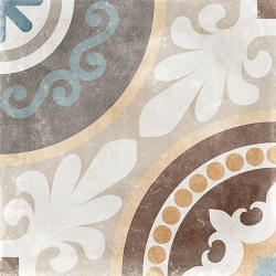 Carrelage imitation carreau de ciment ancien décor Grès Cérame 60x60 cm TEMPO NAOS - 1.44m² Arcana