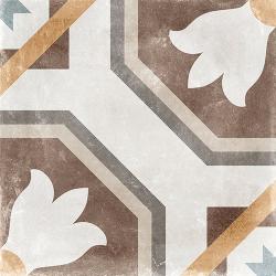Carrelage imitation carreau de ciment ancien décor Grès Cérame 60x60 cm TEMPO SABIK - 1.44m² Arcana