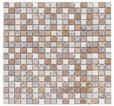 Mosaique marbre multicouleur 2 1.5x1.5 cm - unité - zoom