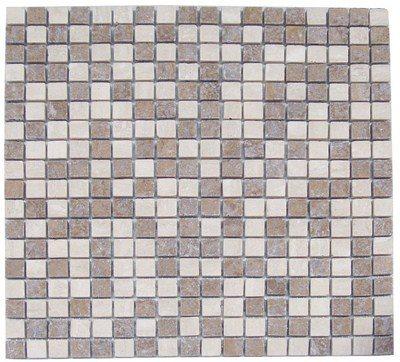Mosaique marbre multicouleur 1 1.5x1.5 cm - unité - zoom