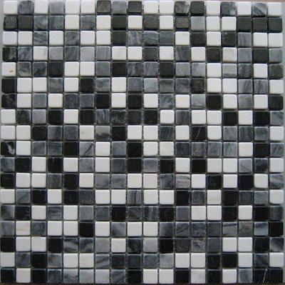 Mosaique marbre multicouleur 4 1.5x1.5 cm - unité - zoom