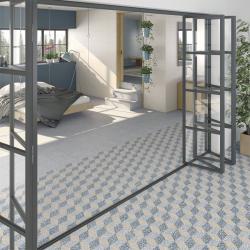 Carrelage imitation Terrazzo Granito 30x30 cm Amalfi Azul anti-dérapant R10 - 0.99m² Vives Azulejos y Gres