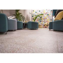 Carrelage imitation Terrazzo Granito 30x30 cm Amalfi Rosa anti-dérapant R10 - 0.99m² Vives Azulejos y Gres