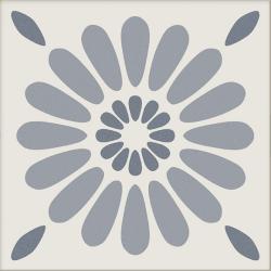 Carrelage imitation ciment bleu gris et blanc mix 20x20 cm ANTIGUA AZUL -R10- 1m² Ribesalbes