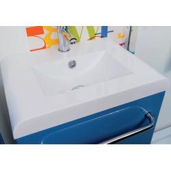 Lave-mains bleu laqué à suspendre 50 cm ELIAD LTAqua+