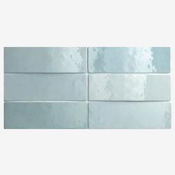 Carrelage effet zellige 6.5x20 ARTISAN BLEU AQUA 24468 - 0.5m² Equipe