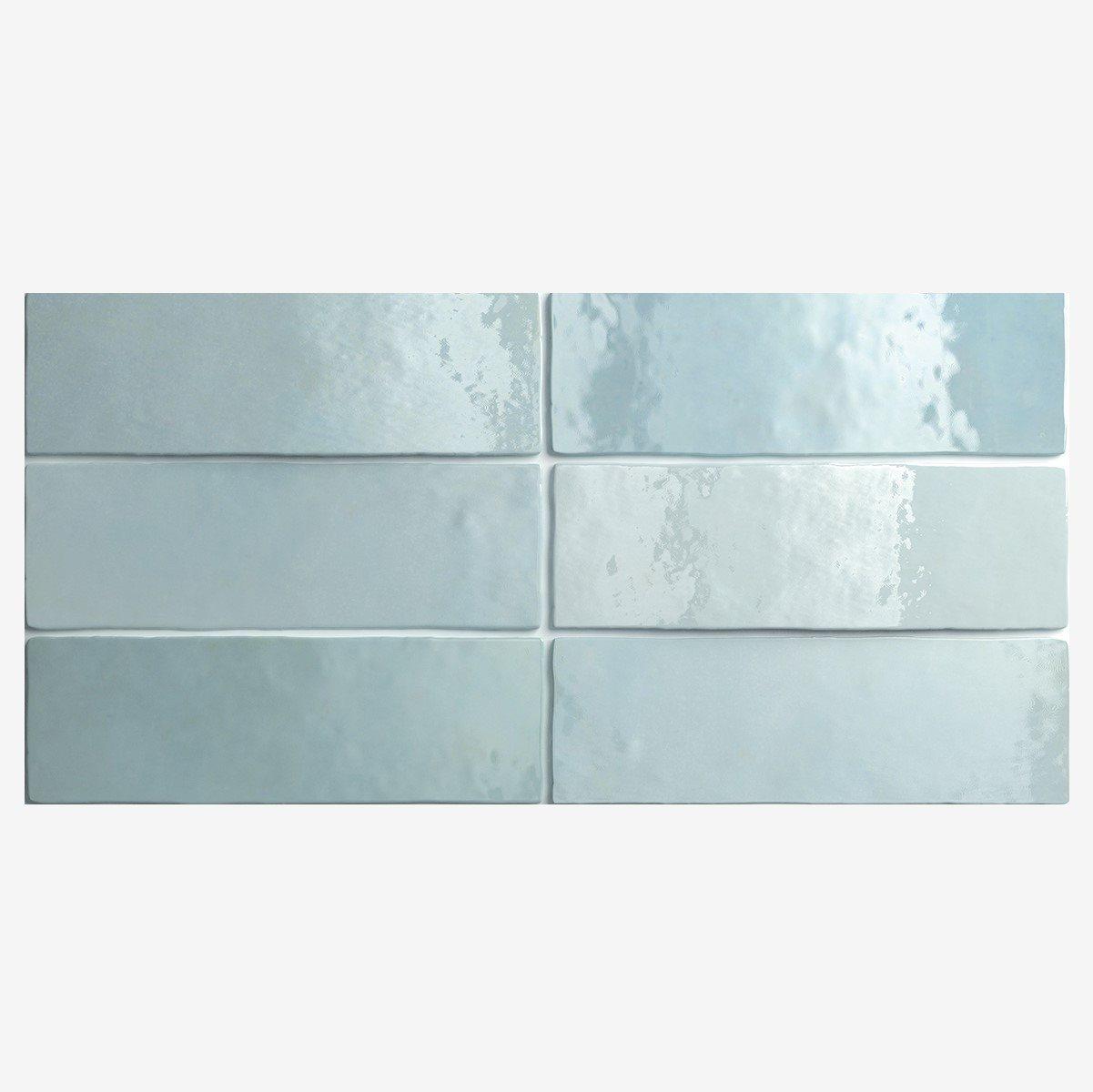 Carrelage effet zellige 6.5x20 ARTISAN BLEU AQUA 24468 - 0.5m² - zoom