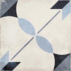Carrelage style ciment étoile bleue 20x20 cm ART NOUVEAU ARCADE BLUE 24411 - 1m² Equipe