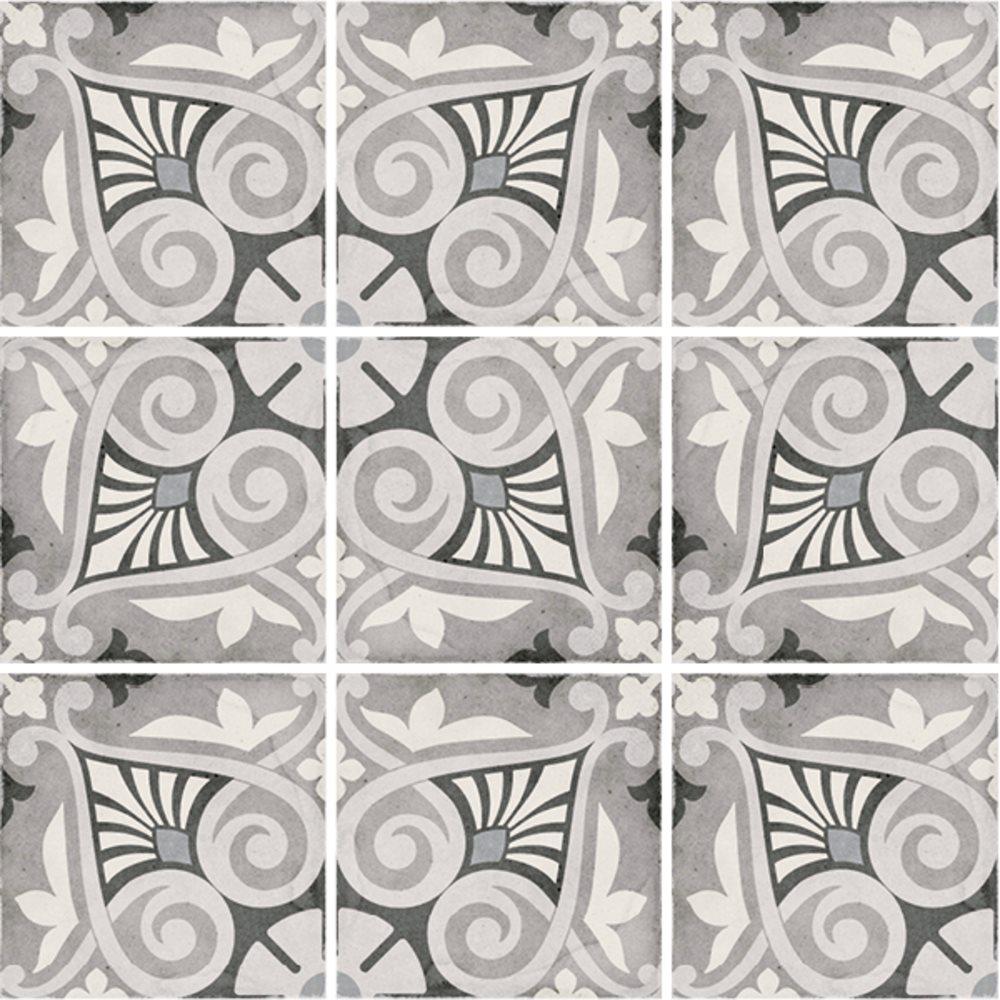 Carrelage style ciment 20x20 cm ART NOUVEAU OPERA GREY 24418 - 1m² - zoom