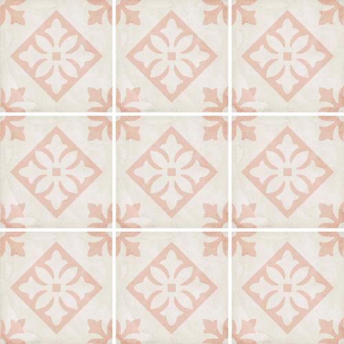 Carrelage style ciment décor rose 20x20 cm ART NOUVEAU PADUA PINK 24407 - 1m² Equipe