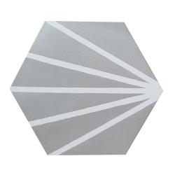 Tomette grise motif dandelion MERAKI GRIS -19.8x22.8 cm - 0.84m² Bestile
