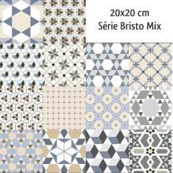 Carrelage imitation ciment mix 20x20 cm BISTRO - 1m² Ribesalbes