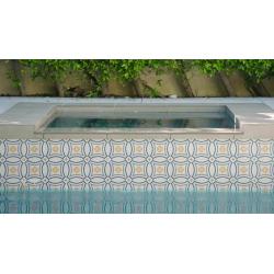 Carrelage imitation ciment rosace 20x20 cm CAPRICE SAINT TROPEZ 20941 1m² Equipe
