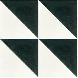Carreau de ciment triangle noir et blanc 20x20 cm ref350-1 - 0.48m² Carreaux ciment véritables