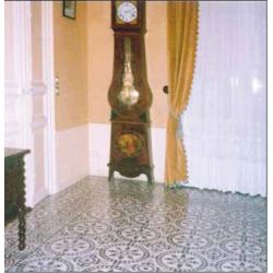 Carreau de ciment décor rosace noire 20x20 cm ref7620-1 - 0.48m² Carreaux ciment véritables