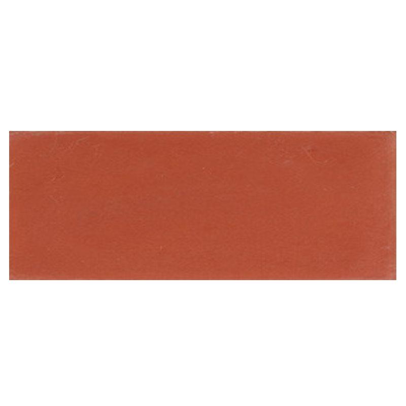 Plinthe de carreau de ciment véritable unie CERISE 10x20 cm - 4mL - zoom