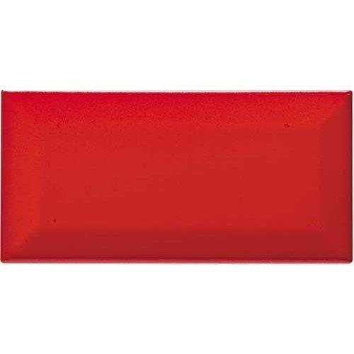Carreau métro grès cérame rouge mat VERMIGLIO 7,5x15 cm - 1 m² - zoom