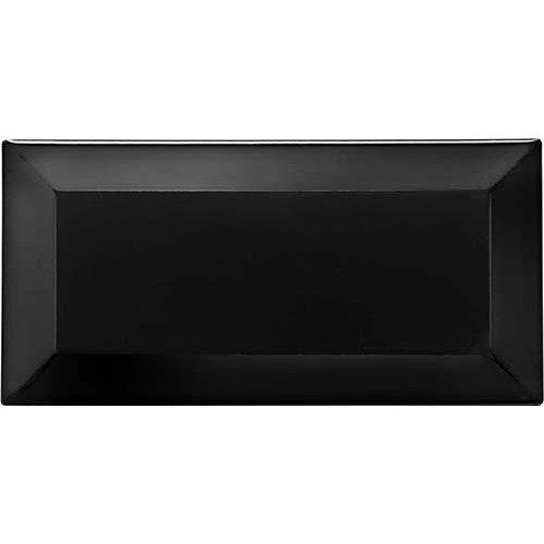 Carreau métro grès cérame noir LAVA 7,5x15 cm - 1 m² - zoom