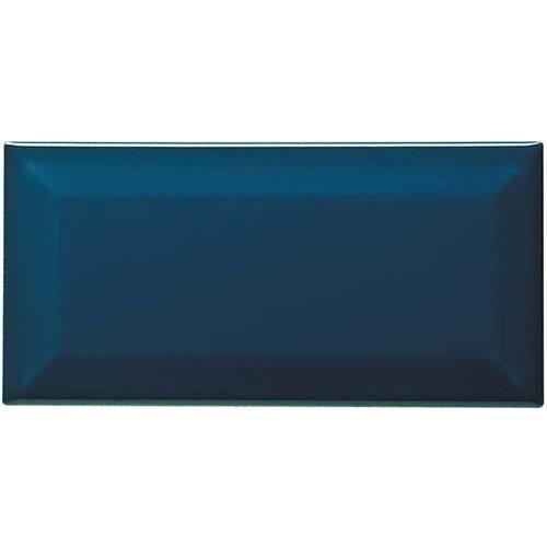 Carreau métro grès cérame bleu nuit PETROLIO 7,5x15 cm - 1 m² - zoom
