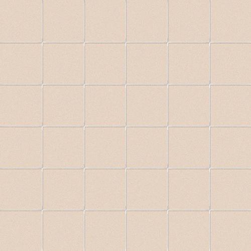Carrelage uni beige 5x5 cm CANAPA MATT sur trame- 1m² - zoom