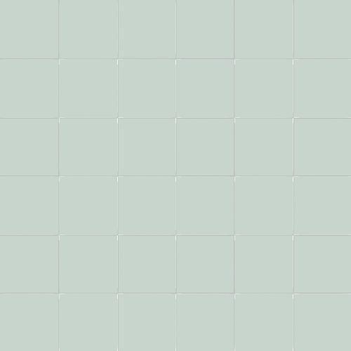 Carrelage uni 5x5 cm vert céladon EDERA MATT sur trame - 1m² - zoom