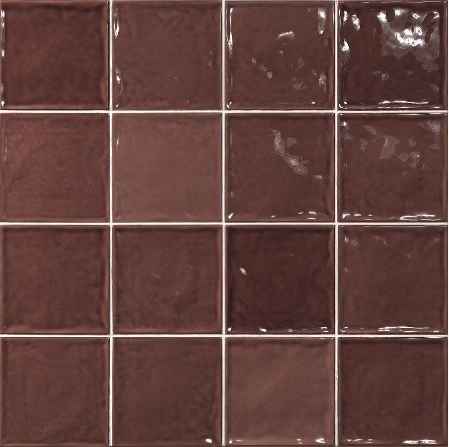 Carrelage effet zellige marron 15x15 CHIC BURDEOS - 1m² - zoom