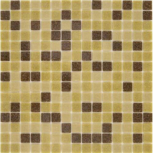Mosaique piscine Mix Mou Jaune Marron 32.7x32.7 cm - 2.14m² Ston