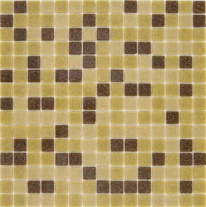 Mosaique piscine Mix Mou Jaune Marron 32.7x32.7 cm - 2.14m² - zoom