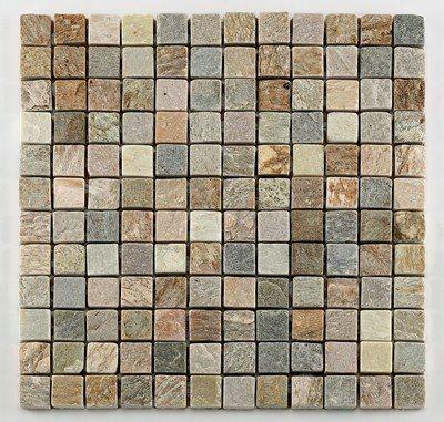 Mosaique quartzite 2.3x2.3 cm - unité - zoom