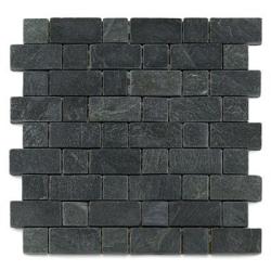 Mosaique ardoise noire 3x3 - 4.8 cm - unité Barwolf