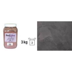 Chaux véritable ébène anthracite déco stuc ou badigeon intérieur extérieur - 3kg Défi