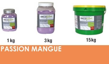 Joint carrelage orange mangue - zoom