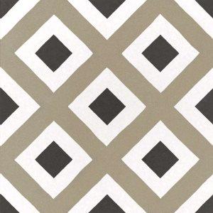 Carrelage imitation ciment géométrique damier 20x20 cm CAPRICE CITY COLOURS 22113 - 1m² - zoom