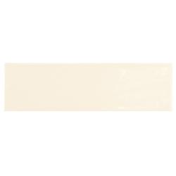 Carrelage uni brillant ivoire 6.5x20cm COUNTRY IVORY 0.5m² Equipe
