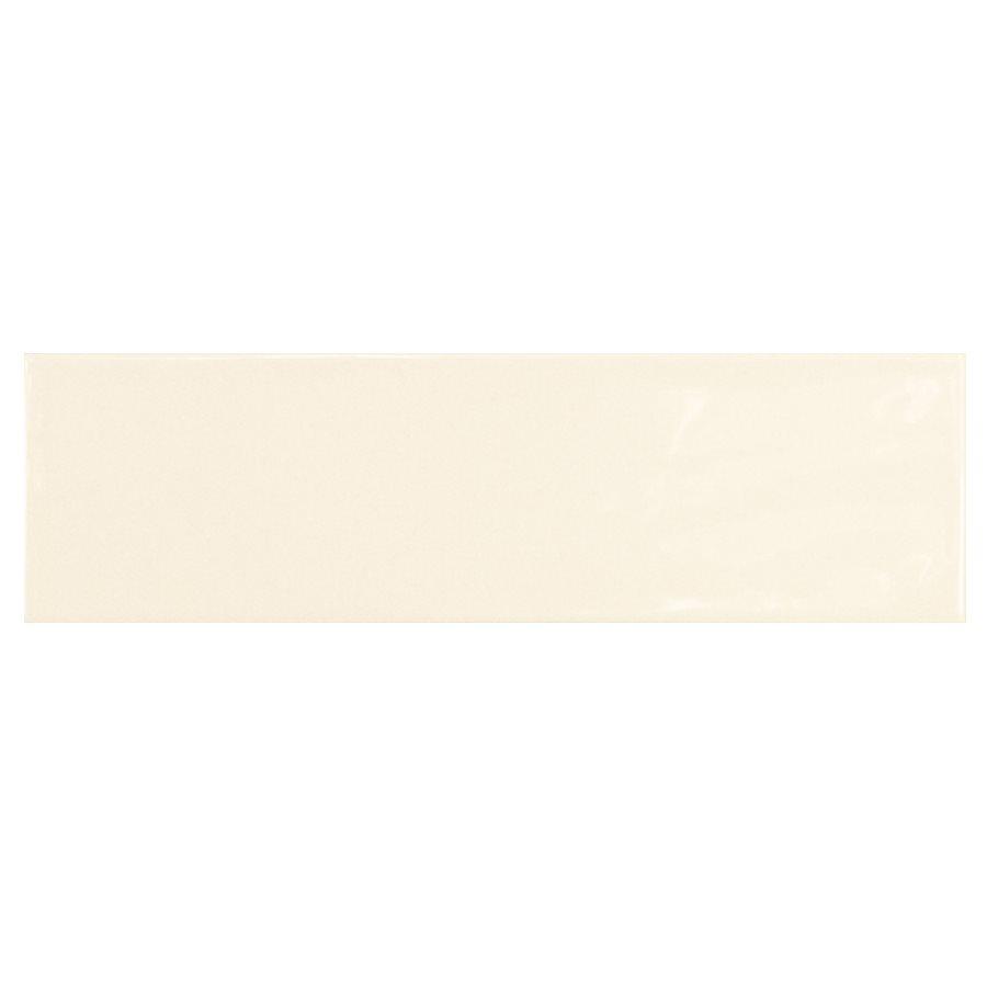 Carrelage uni brillant ivoire 6.5x20cm COUNTRY IVORY 0.5m² - zoom